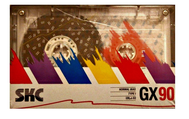 Vintage Korean SKC Normal Bias 120 EQ GX90 Type I Blank Audio Cassette Tape - 6 PACK by Skc