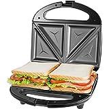Sandwichera Electrica con Capacidad para 2 Sándwiches Tostados de 750W, Toast Acero Inoxidable Antiadherente 2…