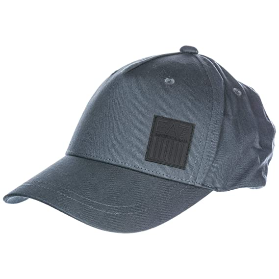 Emporio Armani EA7 adjustable men s cotton hat baseball cap grey   Amazon.co.uk  Shoes   Bags 7a9199ef89c