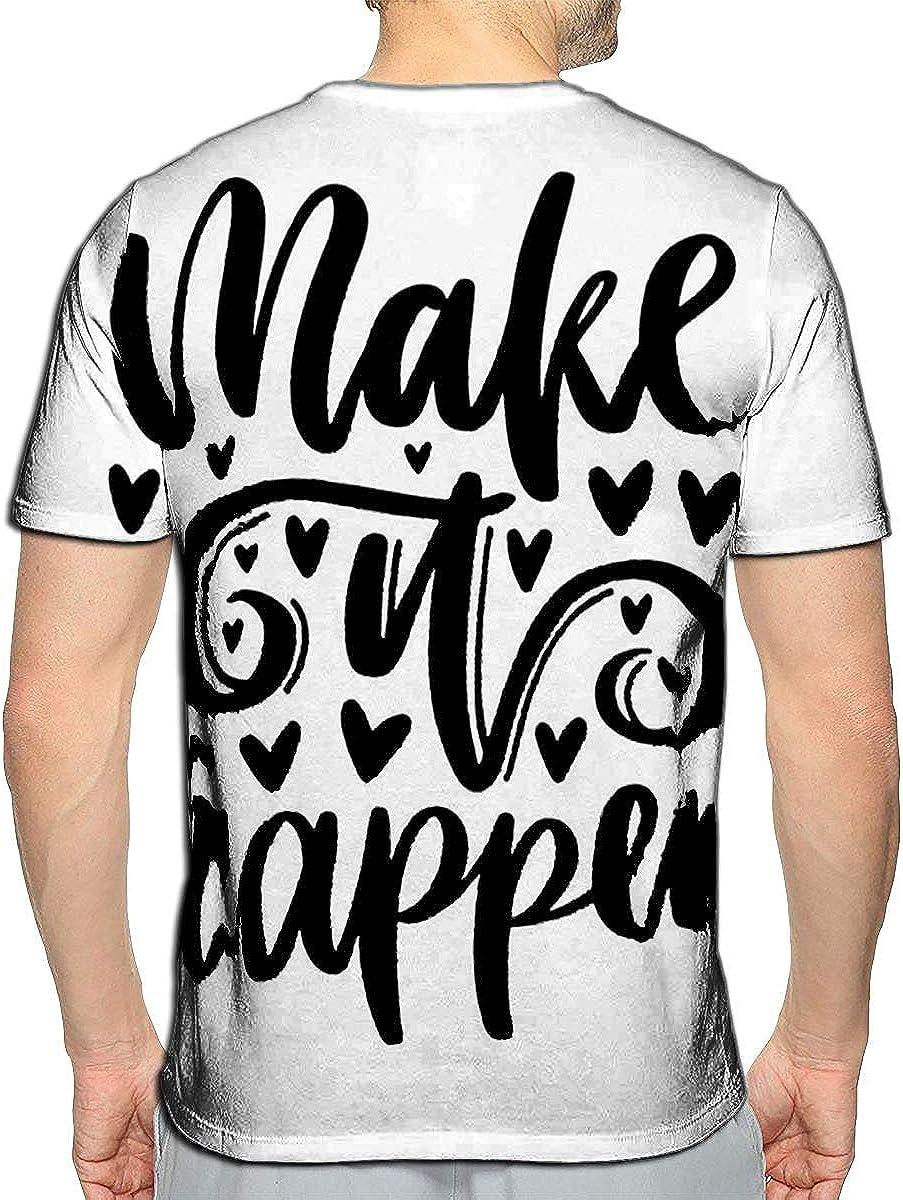 Randell 3D Printed T-Shirts Make It Happen Short Sleeve Tops Tees