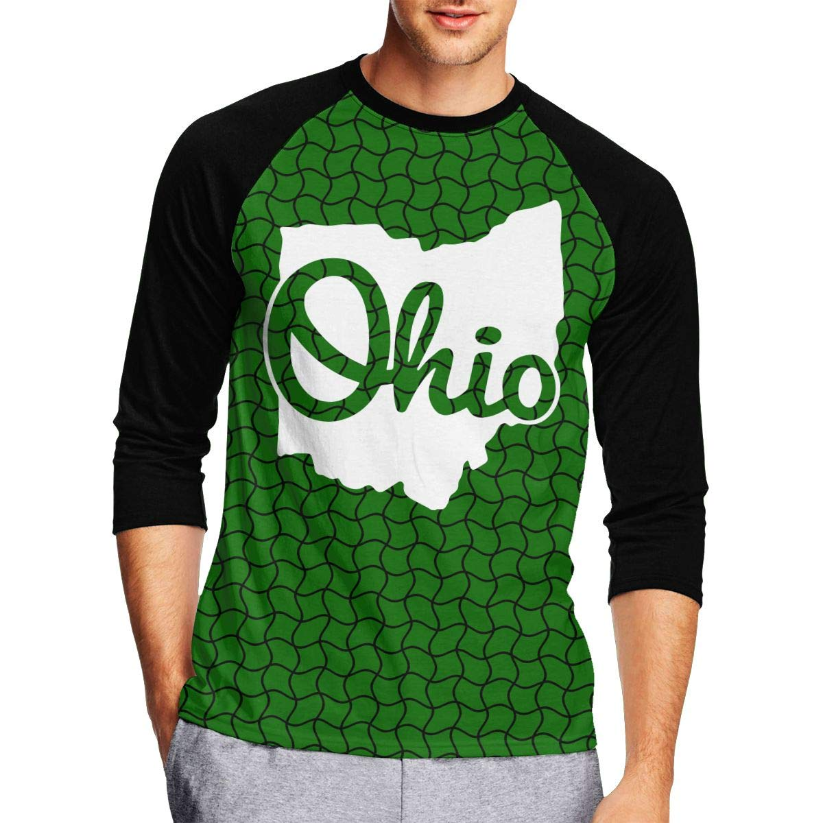 I Love My Ohio Home Mens Funny Adult Long-Sleeved T Shirt
