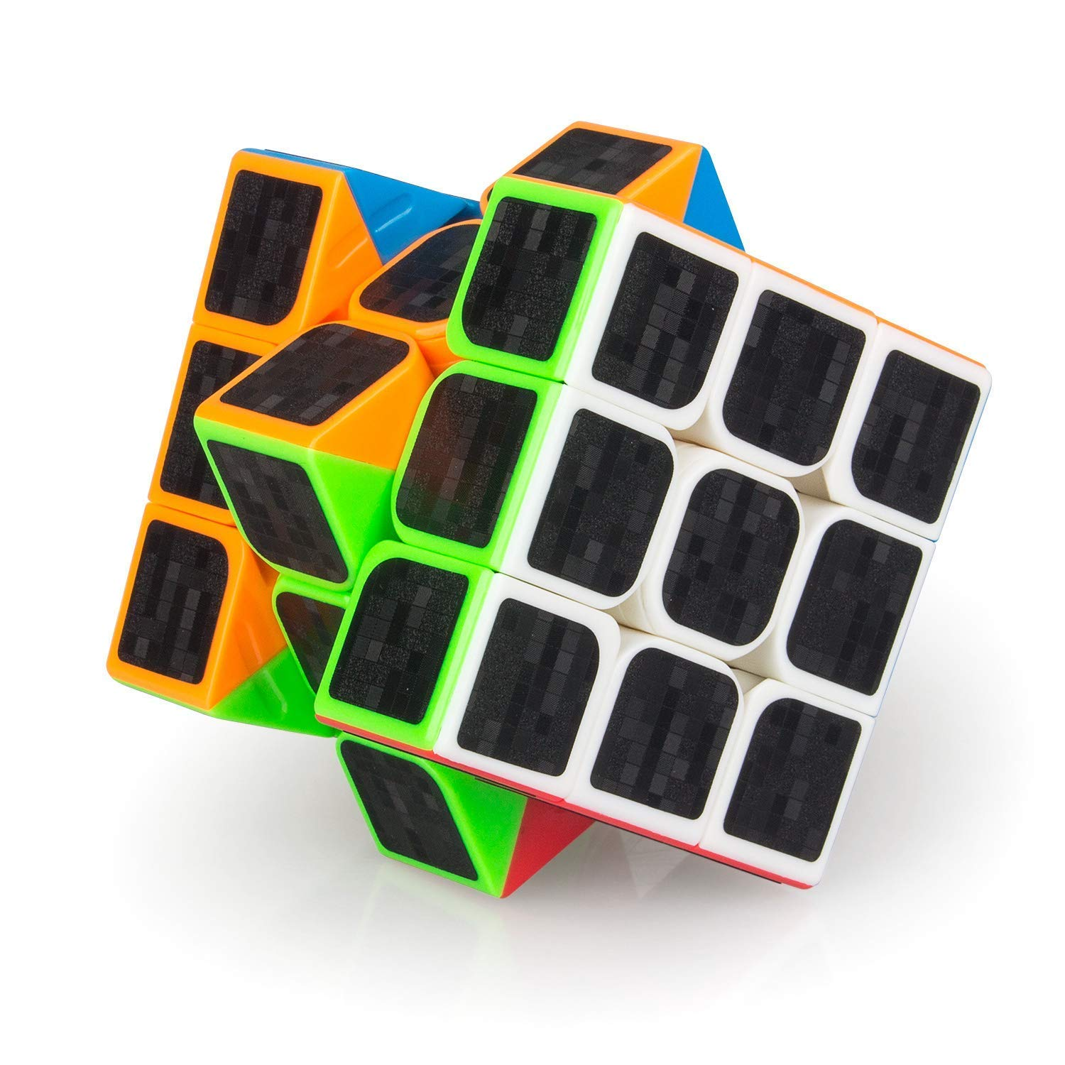 D.F.L Speed Cubes 3D Puzzles Magic Cube 3D Cube Set Rubix Cube Puzzle Cube Carbon Fiber Moyu Cube 2x2 3x3 Smooth Enhanced Version Gift for Kids and Adults by D.F.L (Image #3)