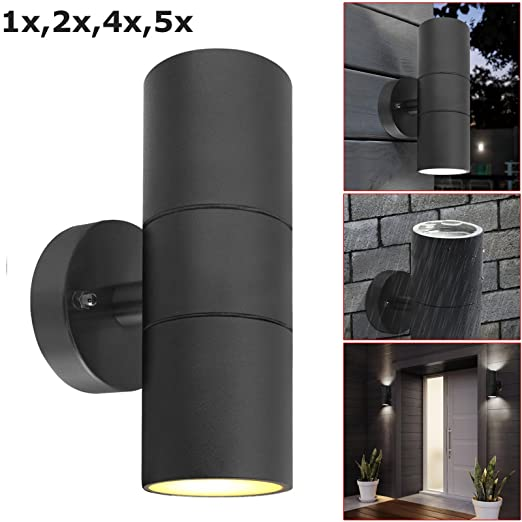 Wall Mounted Up and Down Lamp Outside or Indoor Light Stainless Steel IP44