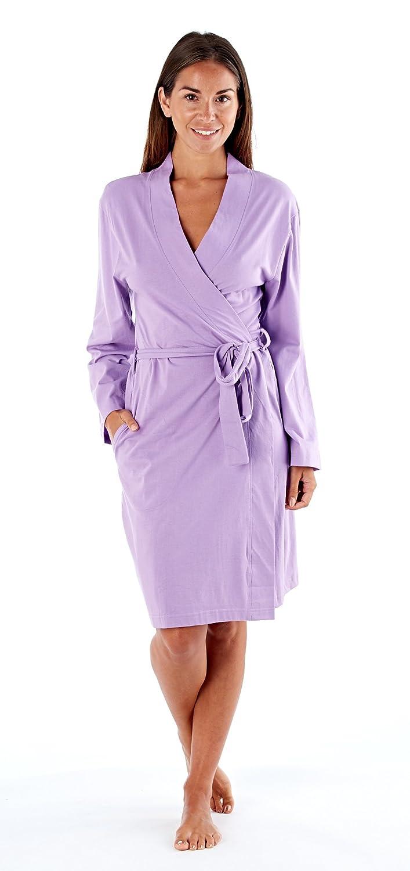 90f9c23bfa3 SST-UK Ladies Soft Jersey Kimono Wrap Cotton Dressing Gown Summer Bath Robe  House Coat