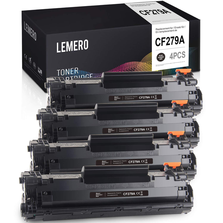 2 LEMERO Compatible HP 79A CF279A Cartuchos de Toner para HP Laserjet Pro M12 M12A M12W M26A M26NW M26,Negro