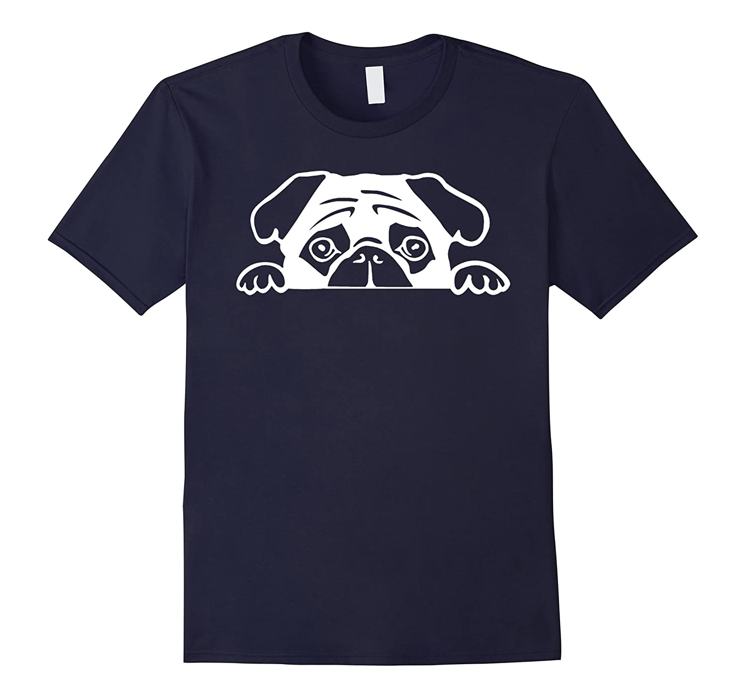2017 Cute Lovely Dog Pug Face T shirt-Art