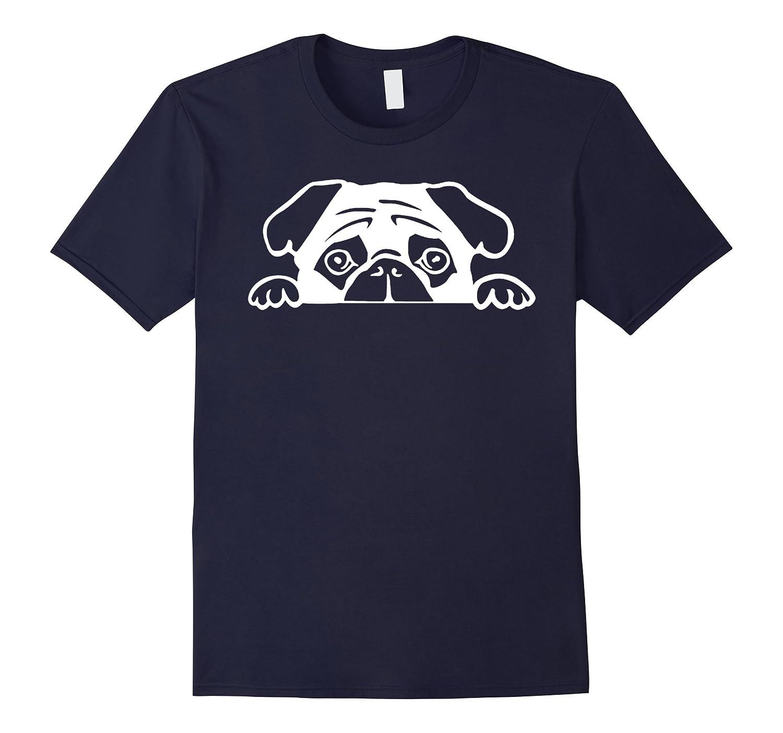 2017 Cute Lovely Dog Pug Face T shirt-4LVS