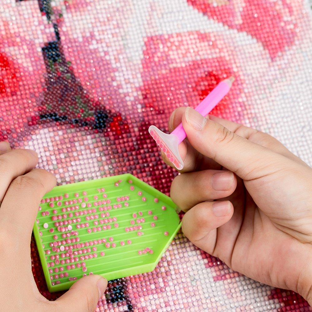 stil1, 30 * 30cm TZAMLI Vollbohrung DIY 5D Diamant Malerei L/öwenzahn Stickerei Malerei Kreuzstich Dekoration Kunst Handwerk f/ür Home Wand Dekor