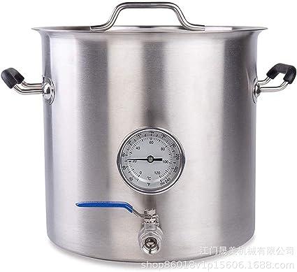 JIXIN Barril De Acero Inoxidable 304 para Cocina Casera Elaboraci/ón De Cerveza 30L // 7 Galones