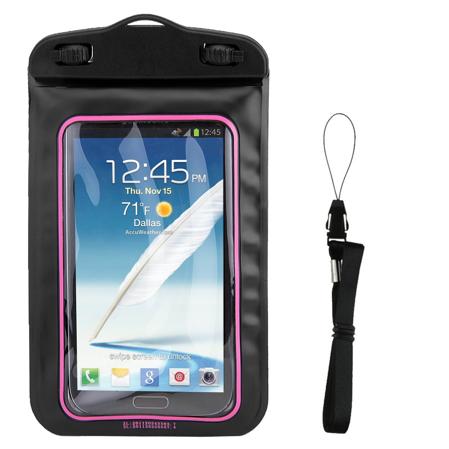 Amazon com: SumacLife Black Waterproof Cell Phone Case Dry