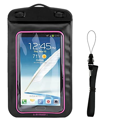 best loved 89b99 beccd Amazon.com: SumacLife Pink Waterproof Cell Phone Case Dry Bag Pouch ...