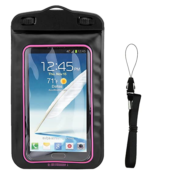 official photos 1e5bb d420c Amazon.com: Floating Pink Waterproof Cell Phone Case Dry Bag Pouch ...