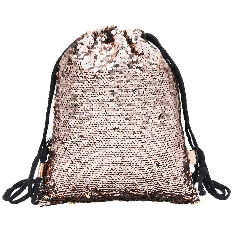 Lolittas Sequin Mini Backpack School Bag for Women Girls,Small Fashion Stylish Sling Lightweight Packable Foldable Shoulder Crossbody PVC (Black)