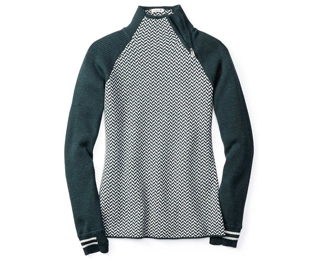 Smartwool Women's Dacono Funnel Neck Sweater (Lochness Heather) Large