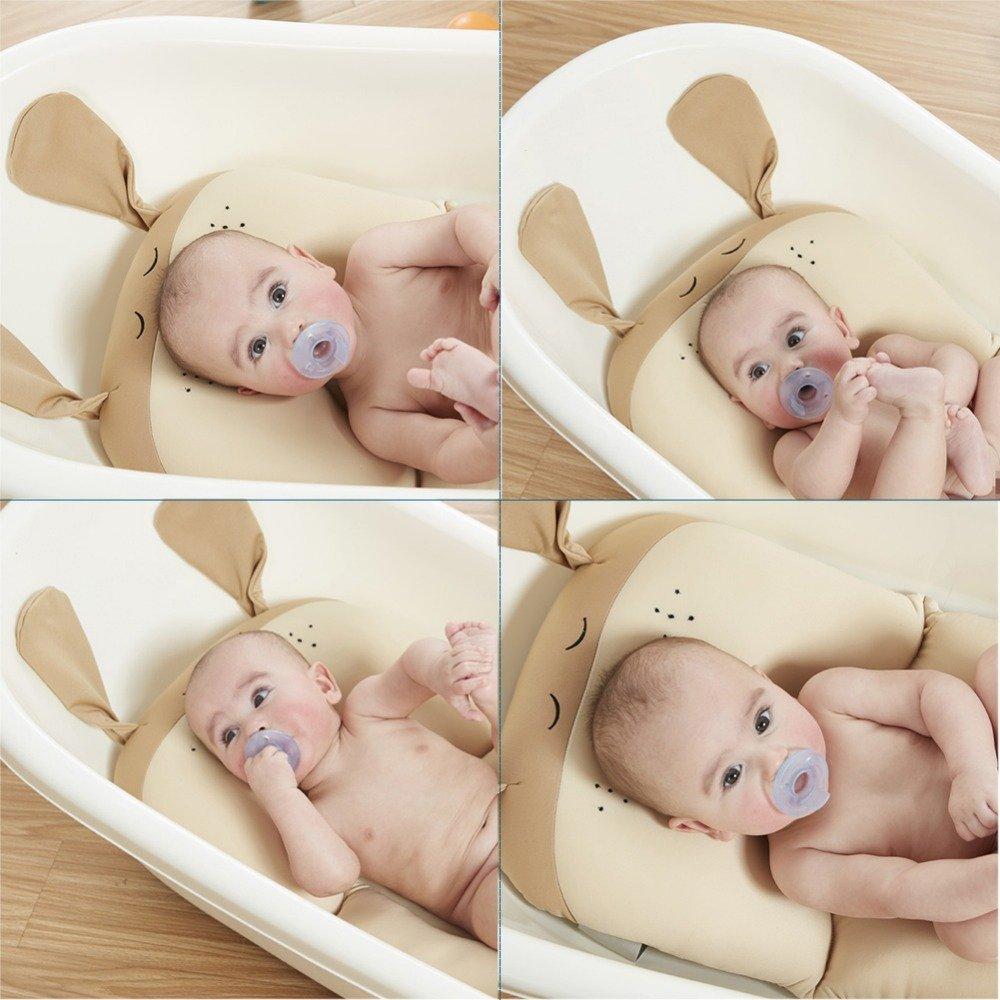 Moonvvin Baby-Badekissen weiches Badewannenkissen und Liege f/ür Neugeborene blau