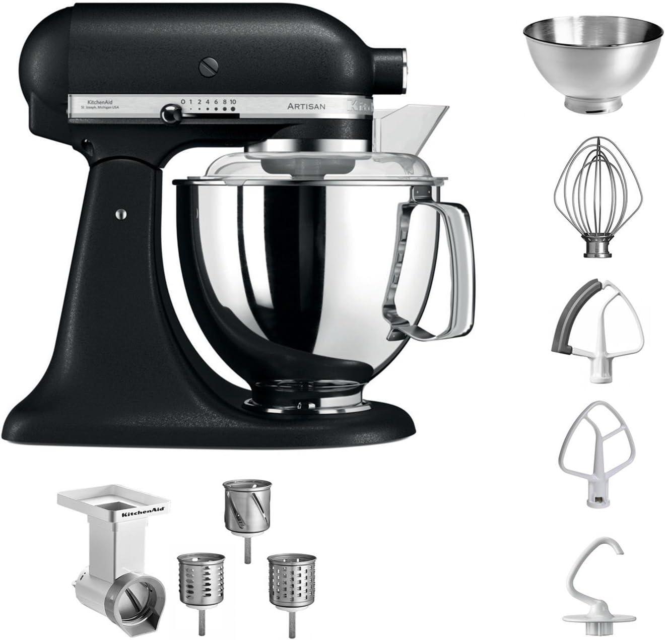 KitchenAid 5 ksm175psebk + MVSA Artisan Robot de cocina + Cortador de verduras, color negro: Amazon.es: Hogar