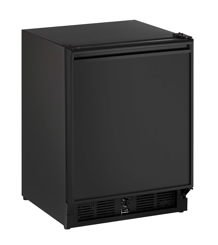 U-Line U-CO29FB-00A 24 Inch Under Counter Ice Maker/Refrigerator Combo, ADA Compliant, Black (Certified Refurbished)