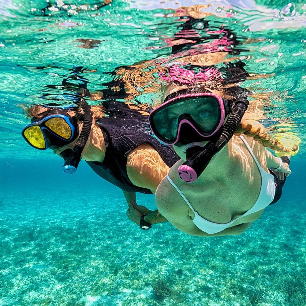 TUSA Sport Adult Serene Black Series Mask and Dry Snorkel Combo