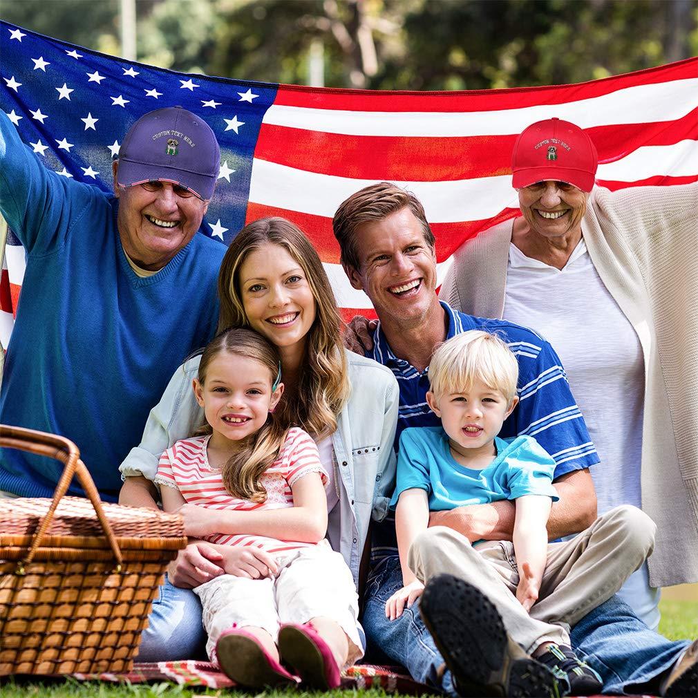 Bernard Puppy Embroidery Design Cotton Custom American Flag Hat St