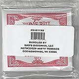 ERNIE BALL SIX PACK OF CUSTOM GAUGE 11 --1011 -- (P01011) --.011 Plain Steel -- 6 pack of strings