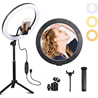 "Volkwell 12"" Selfie LED Ring Light, Dimmable Ringlight with Tripod Stand Wireless Remote Phone Holder for Live Stream…"