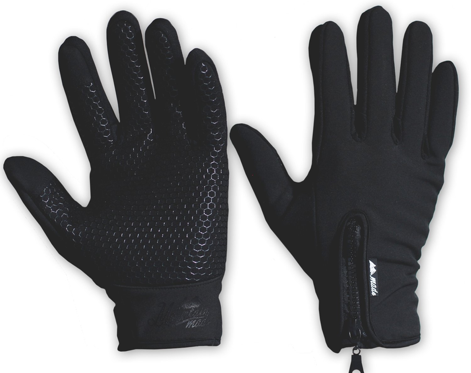 Mountain Made Outdoor Gloves for Men & Women, Black, X-Large