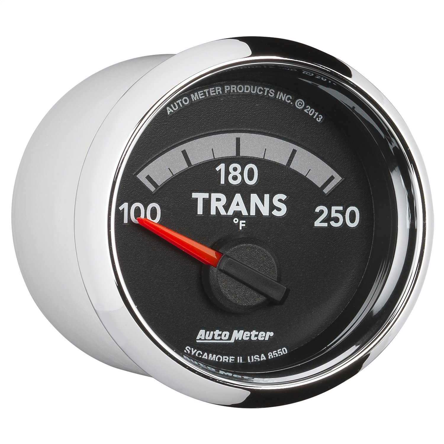 100-250 Degree F, 52.4mm Auto Meter 8550 Factory Match 2-1//16 Electric Transmission Temperature Gauge