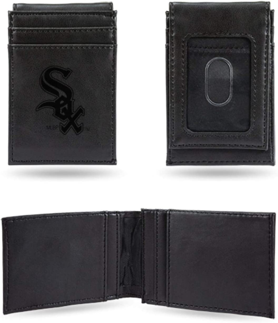 Rico Industries White Sox Laser Engraved Black Billfold Wallet