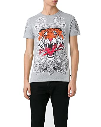 Philipp Plein - Herren T-Shirt Philipp Tiger - grau, XXL  Amazon.de ... 9f786f0045