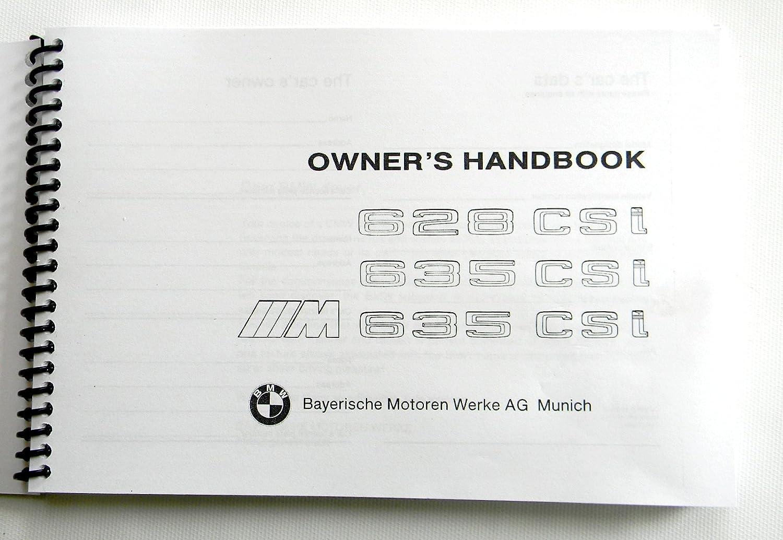 1986 bmw m 635csi euro Owners Manual e24 Euro 1984 1985 reprint new 635 euro 628