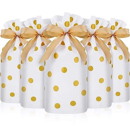 Frienda 30 Piezas Bolsa de Dulces con Cordón, Bolsa de Favores de Plástico Bolsa de Galletas de Cordón para Navidad Boda Cumpleaños Compromiso Fiesta ...