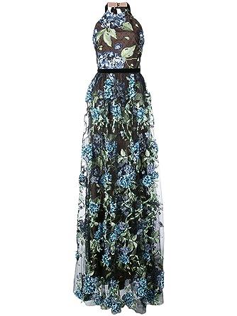 Marchesa Notte Women\'s Sleeveless 3D Embroidered Evening Gown 10 ...