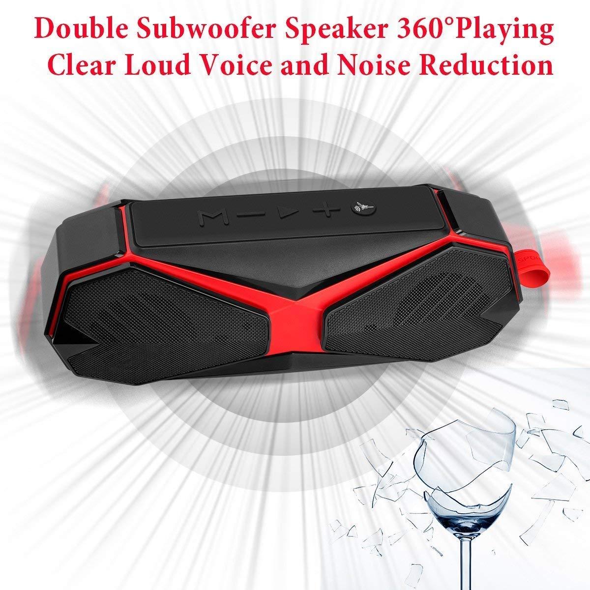 iTecFree Bluetooth Speaker IPX7 Waterproof Shower Speaker, Wireless Speaker Hands Free Call Function Stereo Loudspeaker for iPhone Android Samsung iPad Tablet Outdoor Bath Beach