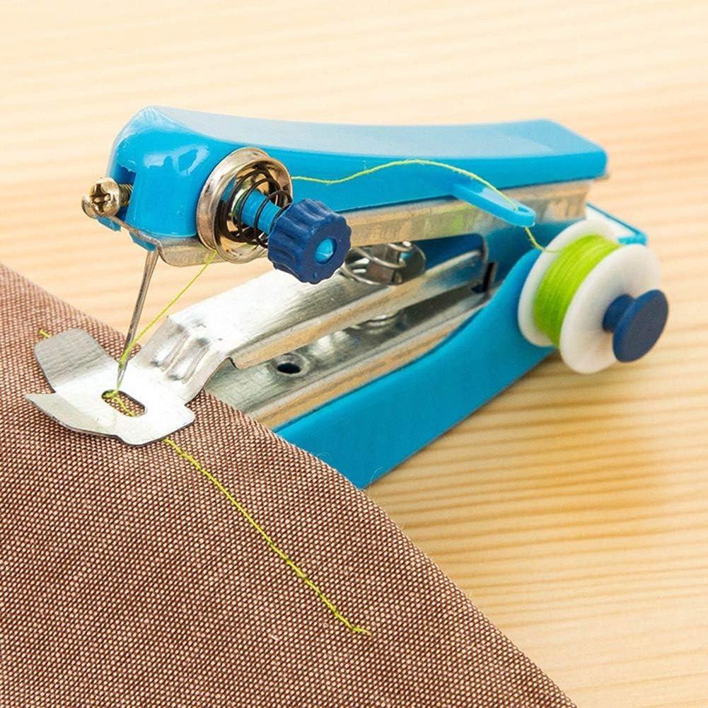 DCSHOP Mini Maquina de Coser Portátil de Mano, Mini Máquina de Coser Quick Handy Stitch Tela Ropa Niños Tela Portátil Maquina de Coser Manual