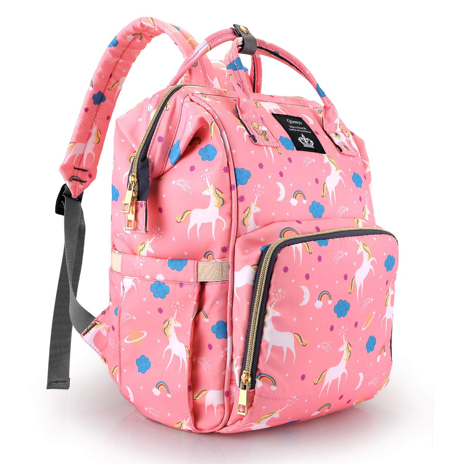 Unicorn Travel Rucksack Casual Daypack Nappy Diaper Bag Backpack for Mom Dad