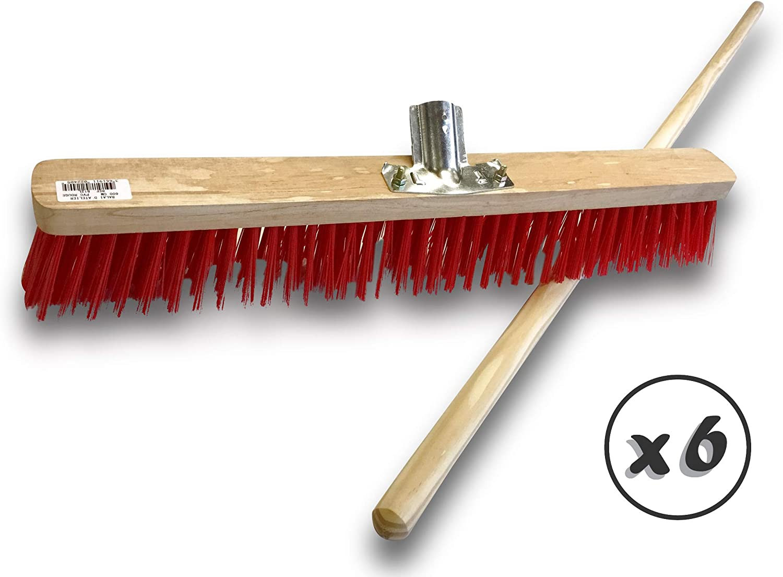 Sans manche Kibros 812L Garnissage brosse PVC rouge Longueur 60 cm Semelle bois Balai datelier typecantonnier Douille m/étal boulonn/ée /Ø 28 mm Piste Ext/érieur