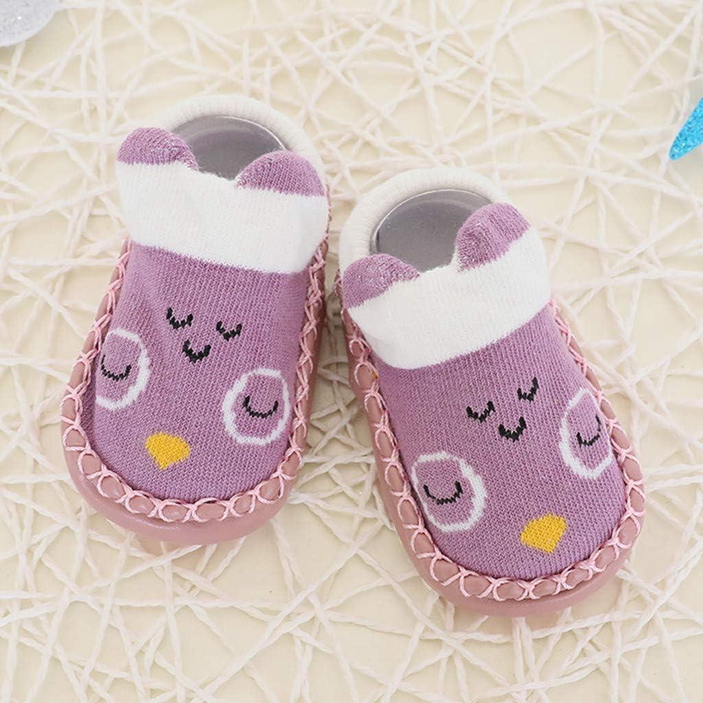 Socken LONGROA Babyschuhe Socken rutschfeste Kleinkind Boden Kinder Bodensocken Socken-Pantoffel-Schuh-Stiefel Stricksocke Baumwolle thermosocken