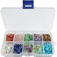 Cuentas de Piedras Preciosas,Piedras para bisuteria,Caja de cuentas de piedra,Piedra para Hacer joyería,Piedra para…