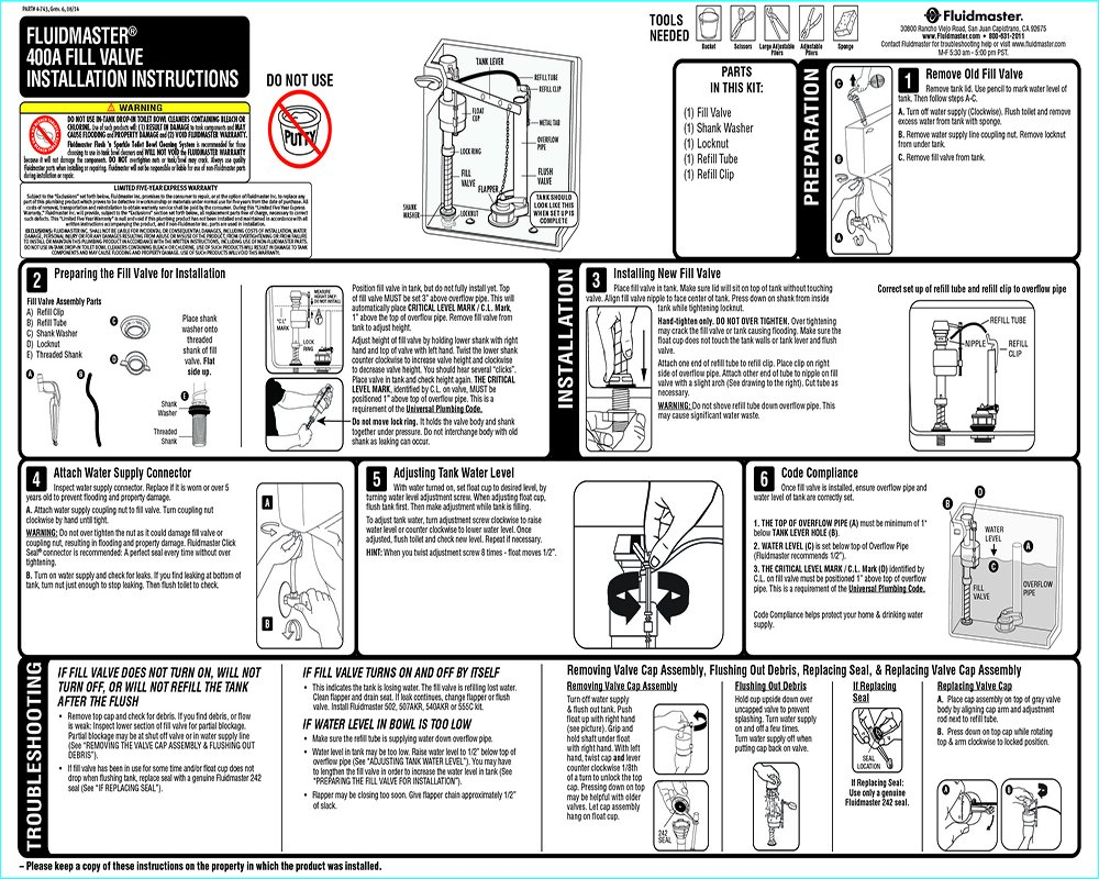 toilet fill valve parts.  400A Fill Valve Contractor 3 Pack Flush Valves Amazon com