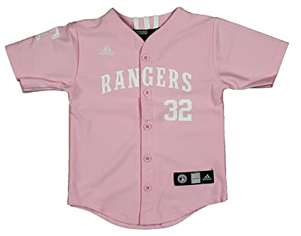 check out 45e11 d5425 Amazon.com : MLB Texas Rangers Toddlers Josh Hamilton Pink ...