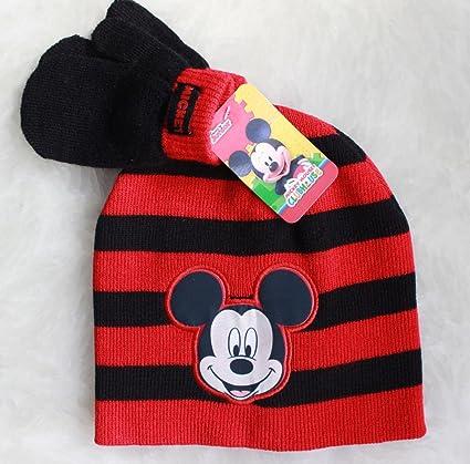 Amazon.com  Mickey Mouse Boys Kids Winter Hat Beanie Mittens Gloves Set   Toys   Games 53d57ab4de9