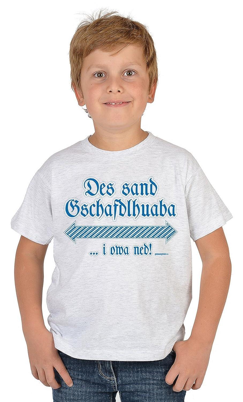 Lustige Bayrische Sprüche Kinder T-Shirt Volksfest: Des sand Gschaftdlhuaba …i owa ned! -- Mundart bayrischer Dialekt Kindershirt