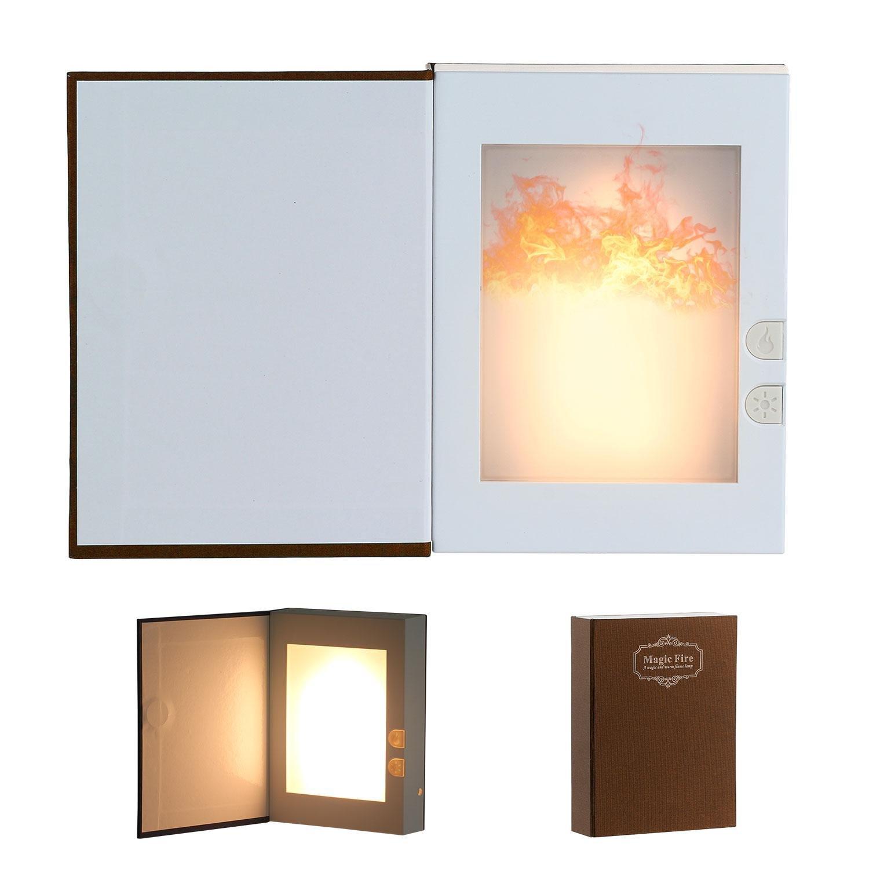 ソニーmdr7506 Book形状LED Flameライト、USB Rechargable Night Light BestギフトSleeping AidパーティーデートAtmosphere (ブルー) ブラウン 7025779905496 B07D4HLDJK 18940  コーヒー