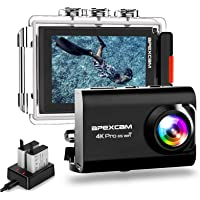 [2020 ny] Apexcam Pro EIS actionkamera 4K 20MP WiFi sportkamera undervatten 40M vattentät kamera extern mikrofon 2.4G…