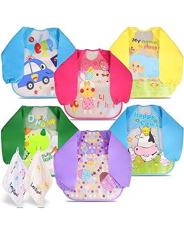 9e845a56985 Letilio Baberos - 6 pcs Impermeable delantal de bebé unisexo EVA con manga  larga. #3