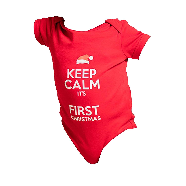 Christmas Shop Babies Personalisable Keep Calm Christmas Baby Grow