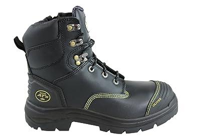 650756f36b4 Oliver Work Boots 55345z, Zip Side,'Black' Steel Toe Cap Safety ...