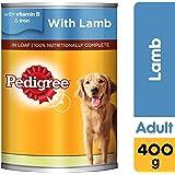 Pedigree Lamb, Wet Dog Food, Can, 400 gm