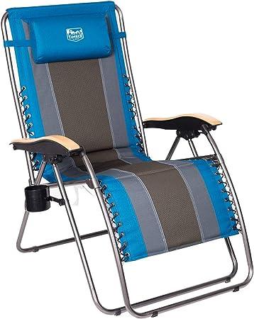 Garden Mile® Twin Pack Black Zero Gravity Garden Sun Lounger Bed Recliner