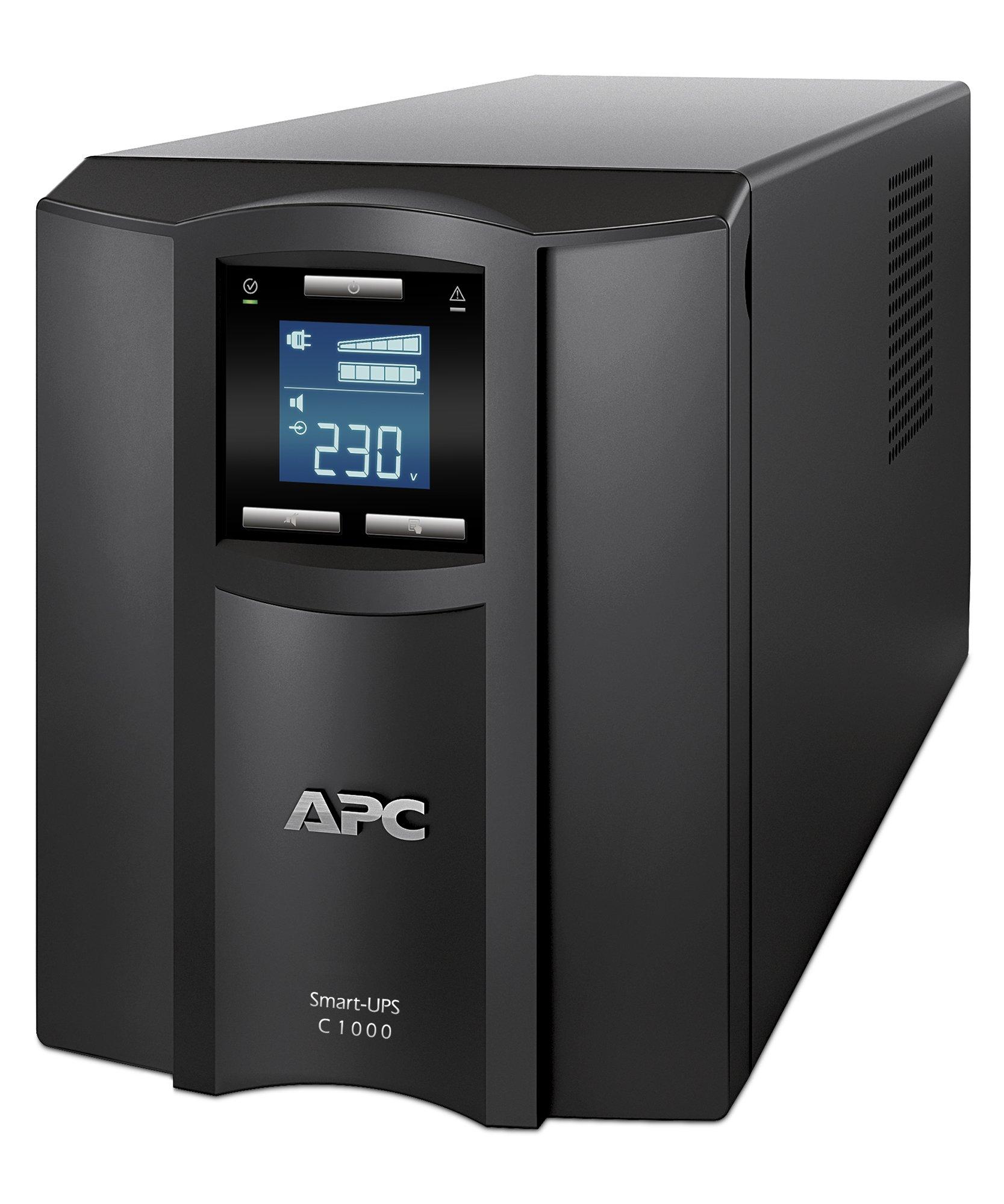 APC Cables APC Smart-UPS C 1000VA LCD 230V - 1 kVA/600 WTower 0.12 Hour, 0.33